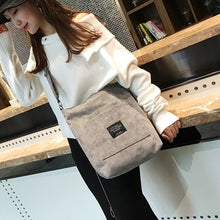 Load image into Gallery viewer, Women Corduroy Shopping Bags Reusable Tote Ladies Casual Shoulder Bag Foldable Beach Shopping Bag Cotton Cloth Female Handbag