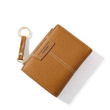 Load image into Gallery viewer, Brand Yellow Women Wallet Soft PU Leather Female Purse Mini Hasp Card Holder Coin Short Wallets Slim Small Purse Zipper Keychain