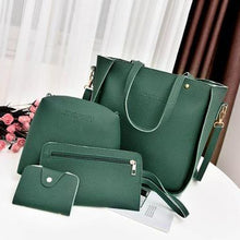 Load image into Gallery viewer, Women Top-Handle Bags Female Composite Bags  Women Messenger Bags Handbag Set PU Leather Wallets Key Bag Set