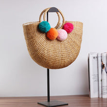 Load image into Gallery viewer, 2020 new high quality tassel Rattan Bag beach bag straw totes bag bucket summer bags with tassels women handbag braided