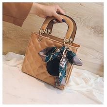 Load image into Gallery viewer, Quality Leather Female Shoulder Bag Small Women Handbag with Ribbon Hair ball Casual Top-handle Bag Ladies' Crossbody Bag Bolsa