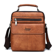 Load image into Gallery viewer, JEEP BULUO Brand Men's Crossbody Shoulder Bags High quality Tote Fashion Business Man Messenger Bag Big Size Split Leather Bags