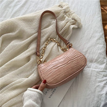 Load image into Gallery viewer, Fashion Crocodile Pattern Baguette bags MINI PU Leather Shoulder Bags For Women Chain Designer Luxury Handbag Female Travel tote