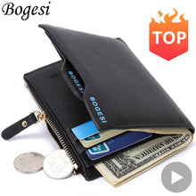 Load image into Gallery viewer, Fashion Small Luxury Famous Brand Men Wallets Male Clutch Coin Purses Walet Bag Cuzdan Money Portfolio Portomonee Pocket Vallet