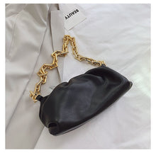 Load image into Gallery viewer, 2020 Day clutch thick gold chains dumpling Clip purse bag women cloud Underarm shoulder bag pleated Baguette pouch totes handbag
