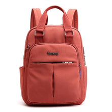 Load image into Gallery viewer, Top-Handle USB Charging Women Backpack Large Capacity Casual Travel Rucksack Preppy Student School Bag 14 inch Laptop Backpack