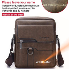 Load image into Gallery viewer, Brand Men Shoulder Bag for 10.4 inches Ipad PU Leather Business Men Messenger Bags Large Man Crossbody Bag Waterproof Travel Bag