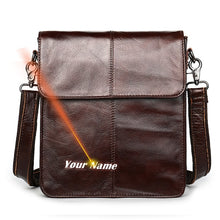 Load image into Gallery viewer, WESTAL men's bags genuine leather shouler bag for men messenger bag men's crossbody handbag men's shoulder bag flap zipper bags