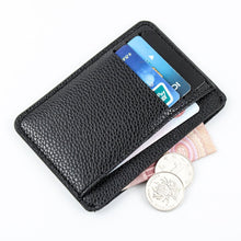 Load image into Gallery viewer, Fashion Men Card Holder Durable PU Leather 6 Cards Slot Ultra-thin Lichee Pattern Wallet 8.3x11.8x0.5CM Card Holders Cover