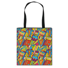 Load image into Gallery viewer, African Women Style Handbag Afro LadiesTraditional Printing Top-Handle Bags for Females Shopping Bag Girls Shoulder Tote Bag