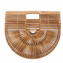 Load image into Gallery viewer, Elegant Female Weave Tote bag 2020 Fashion New High quality Women's Designer Handbag Large Saddle bag Straw Beach Travel bag