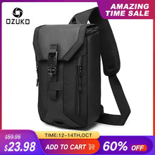Load image into Gallery viewer, OZUKO New Men Bag Multi-layer Crossbody Bag High Quality Waterproof Shoulder Bag Male Messenger Bag for Teenagers Men Sling Bags