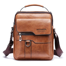 Load image into Gallery viewer, 2020 New Men's Messenger Bag European and American PU Leather Retro Large-capacity Shoulder Bag Men's Handbag Travel Backpack