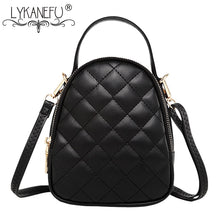 Load image into Gallery viewer, LYKANEFU Diamond Lattice Bags Handbags Women Famous Brands Women Messenger Bags Small Tote Shoulder Bags Ladies Purse Sac a Main