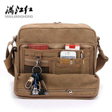 Load image into Gallery viewer, Multifunction Canvas Men Bags For Teenager Fashion Male Mochila Leisure Shoulder Bags High Quality Men Travel Bags 8 Color Bags