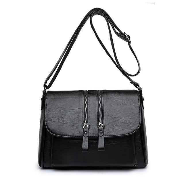 Women's Shoulder Bags High Quality PU Leather Handbags Tote All-match Crossbody Top-handle Bags Shell Messenger Bag