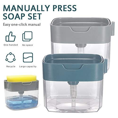 2 in 1 Soap Dispenser (FREE Sponge For Today Only)