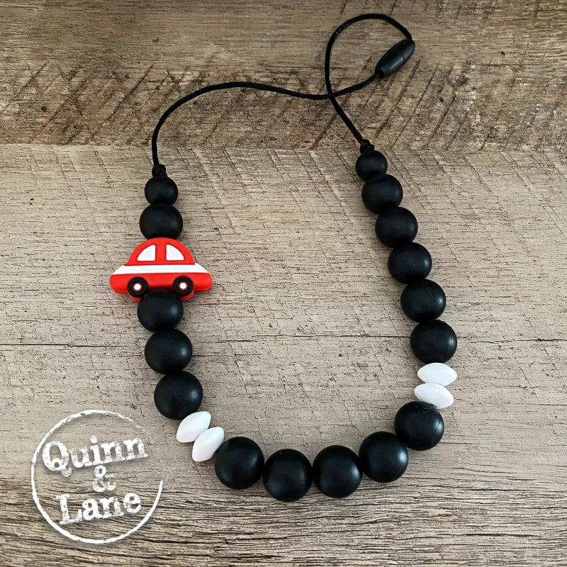 KIDS | Fidget Necklace - Red Car