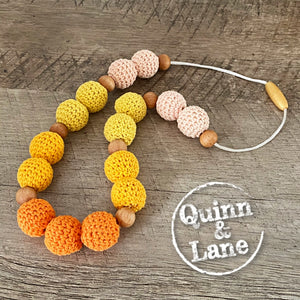 KIDS | Fidget Necklace | BOHO CHIC | Orange Ombre