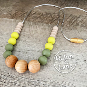 ADULT | Silicone Teething & Nursing Necklace - Sprout