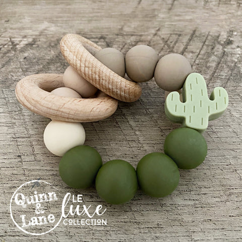 TOYS | Teething Ring - Cactus Rattle Rings | LE Luxe