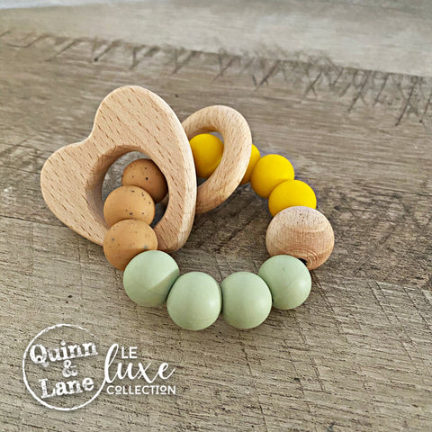 TOYS | Teething Ring - DARCIE Woodland Rattle Ring | LE Luxe | MORE SHAPES