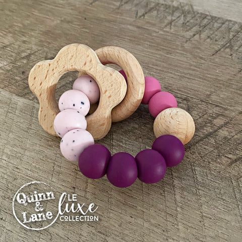 TOYS | Teething Ring - RUTHIE Woodland Rattle Ring | LE Luxe | MORE SHAPES