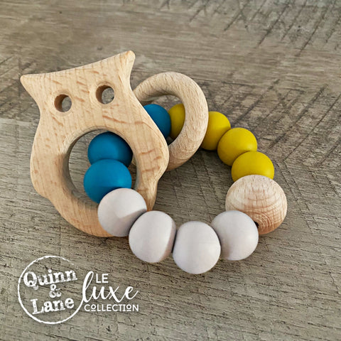 TOYS | Teething Ring - ALPHIE Woodland Rattle Ring | LE Luxe | MORE SHAPES