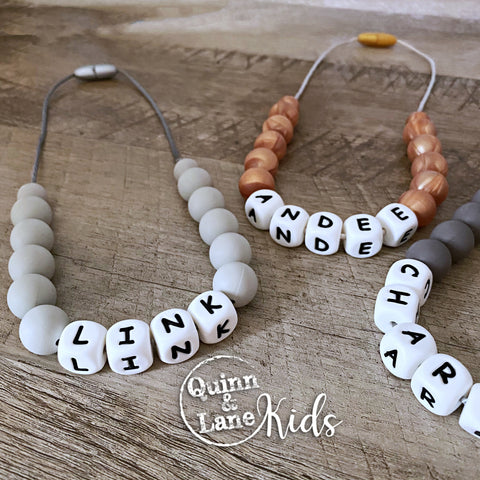 KIDS | Fidget Necklace - Personalized | MORE COLORS