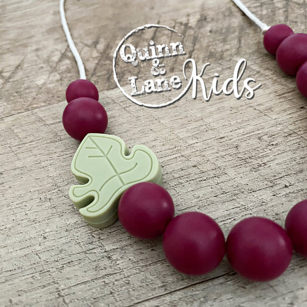KIDS | Fidget Necklace - Lucious Leaf | MORE COLORS