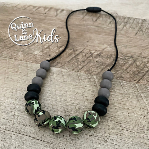 KIDS | Fidget Necklace - Camouflage