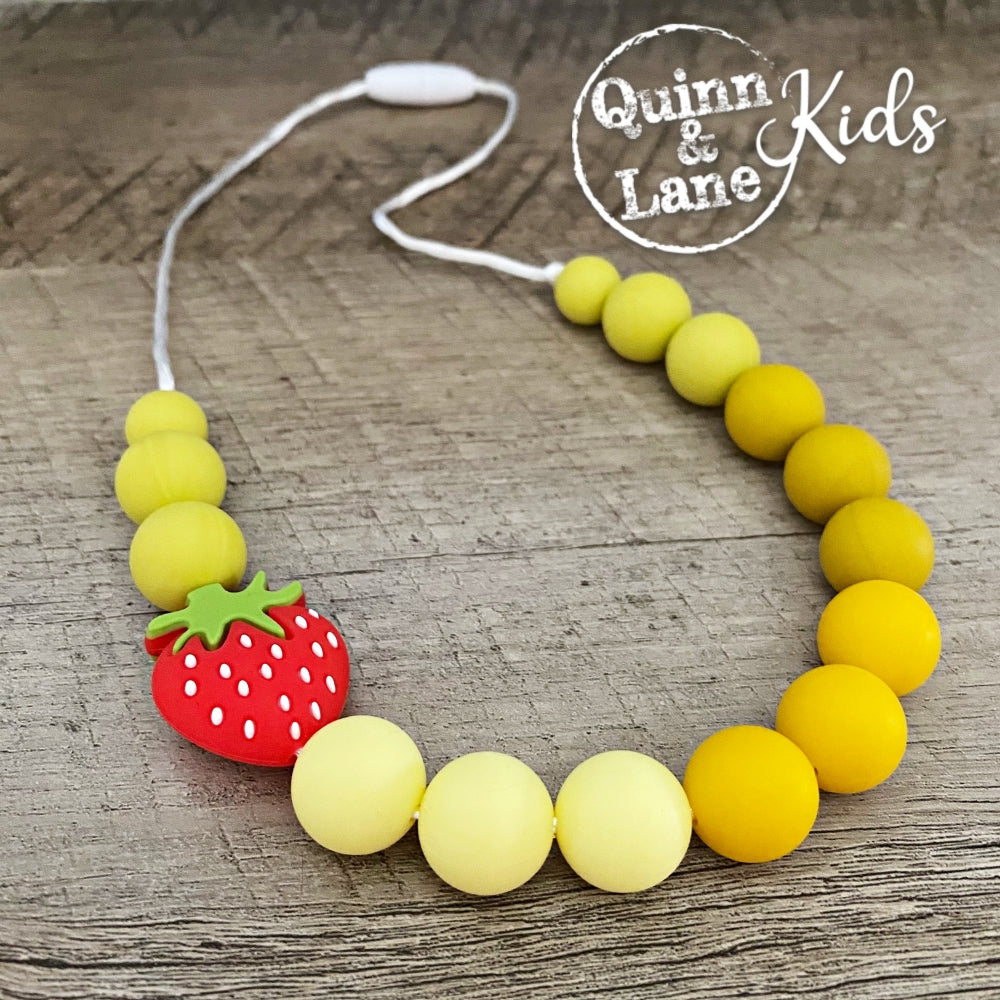 KIDS | Fidget Necklace - Strawberry Fields