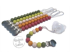 | Pacifier | Teething Clip - Simple Classic - Autumn | SET or Single | - Quinn & Lane