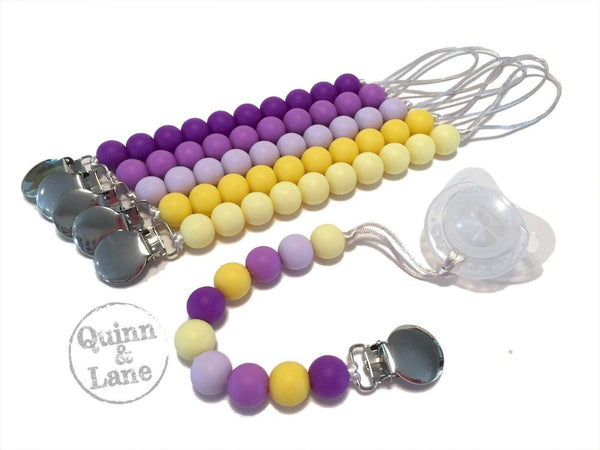 | Pacifier | Teething Clip - Simple Classic - Grape Lemonade | SET or Single | - Quinn & Lane