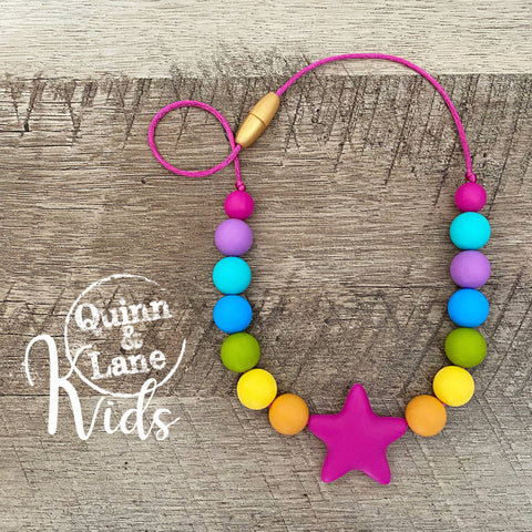 KIDS | Fidget Necklace - Tropical Rainbow Star