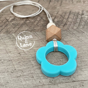 | Adult | Silicone Teething/Nursing Necklace - Daisy Drop Pendant | MORE COLORS |