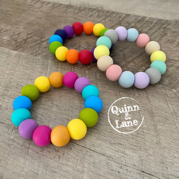 TOYS | Teething Ring - Rainbow | MORE COLORS