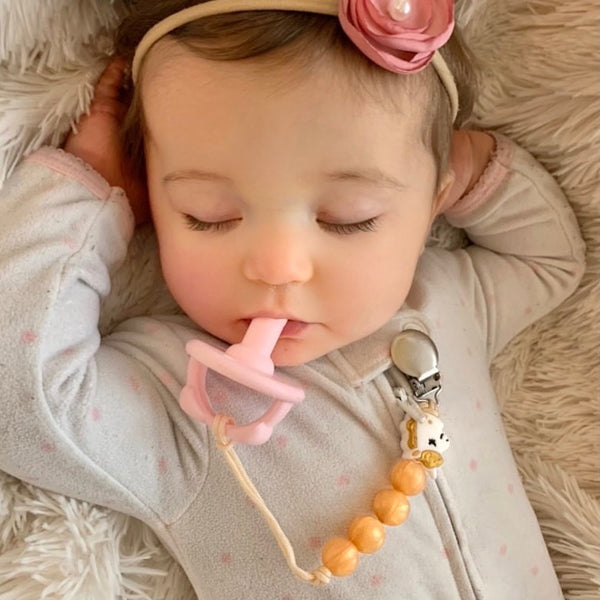 PACIFIER | Teething Clip - Gold Unicorn | LE Luxe