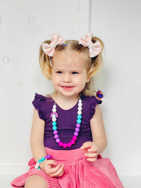KIDS | Fidget Necklace - Little Rainbow - Tropical