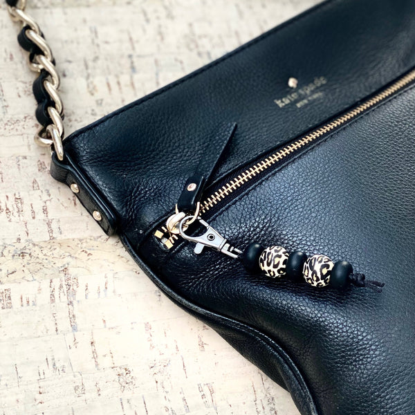 Bling it On! | ZIPPER PULL - Black Leopard