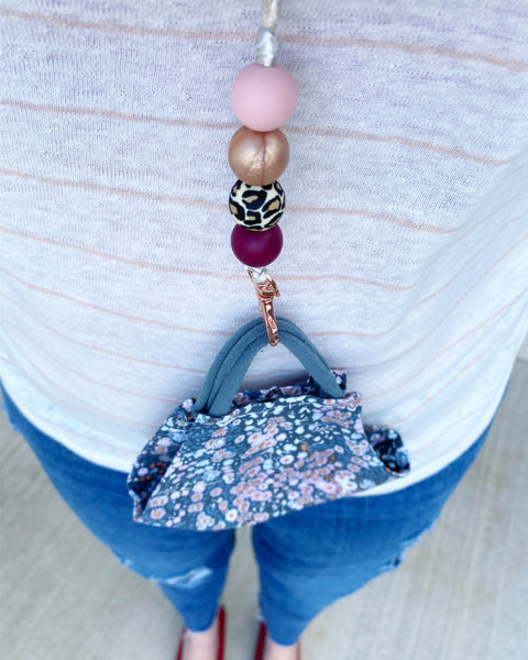 Bling it On! | LANYARD - Rose Gold Leopard