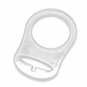 Clear Silicone Pacifier Adapter - for Mam Nuk and other Button Pacifiers - Quinn & Lane