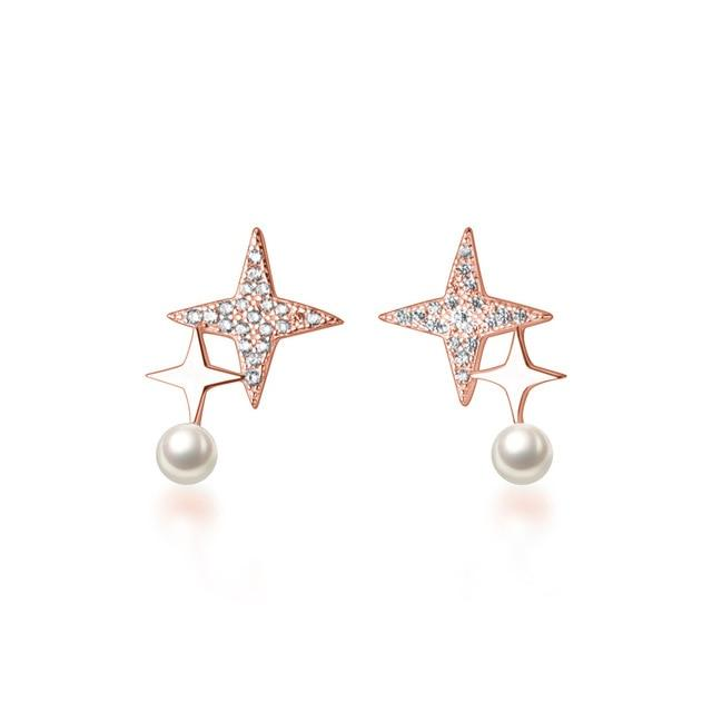 Sterling Silver Star Stud Earrings - MatchMatch