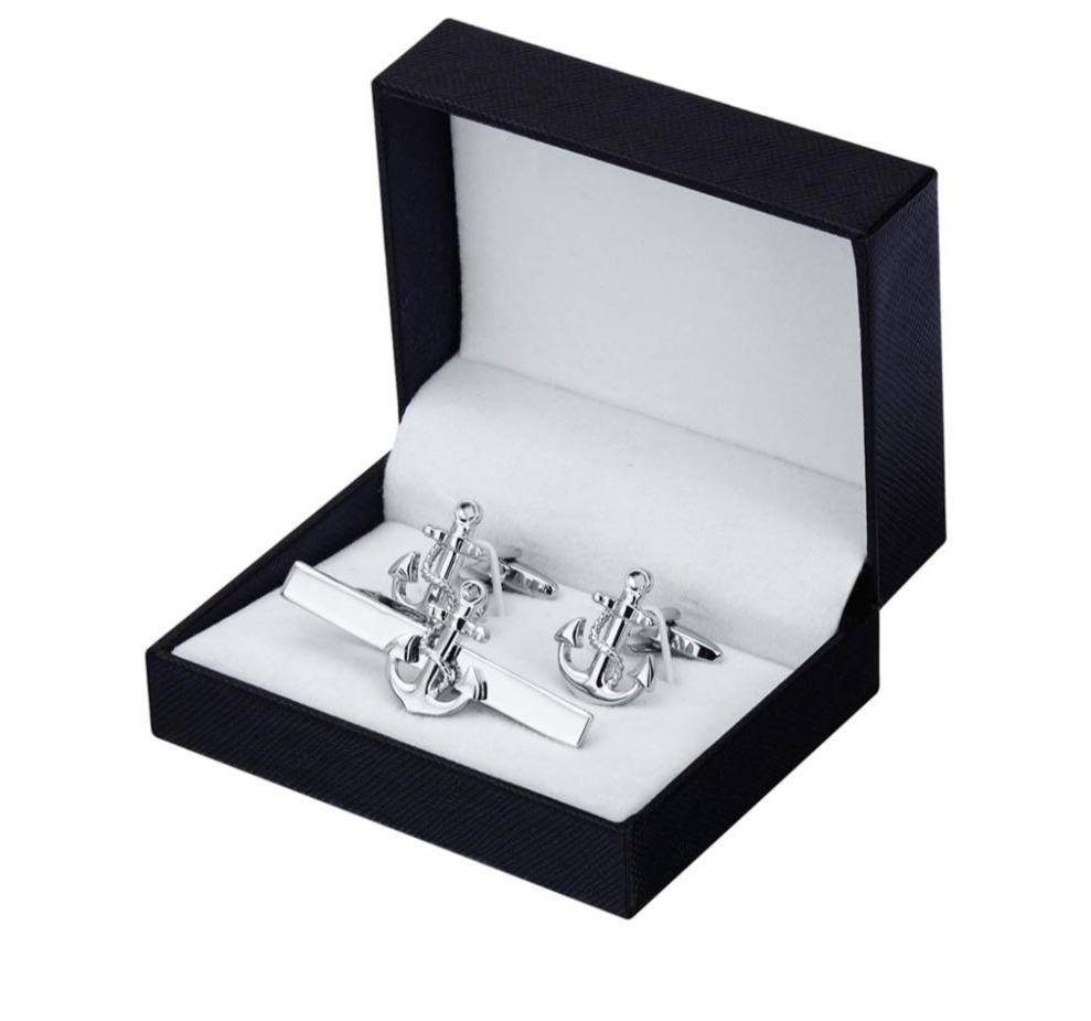 Anchor Cufflinks Tie Clip Set - MatchMatch