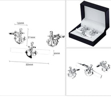 Load image into Gallery viewer, Anchor Cufflinks Tie Clip Set - MatchMatch