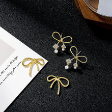 Load image into Gallery viewer, Double Layer Bow Stud Earrings. - MatchMatch