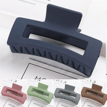 Load image into Gallery viewer, Rectangular Matte Acrylic Hair Claw - MatchMatch