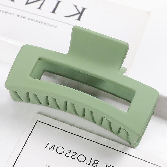 Rectangular Matte Acrylic Hair Claw - MatchMatch