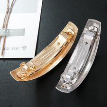 Load image into Gallery viewer, Curved Metal Barrette - MatchMatch