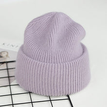 Load image into Gallery viewer, Warm Beanie Weave with Rabbit Fur